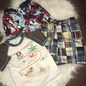 Other - Boys swim trunks and shirt bundle